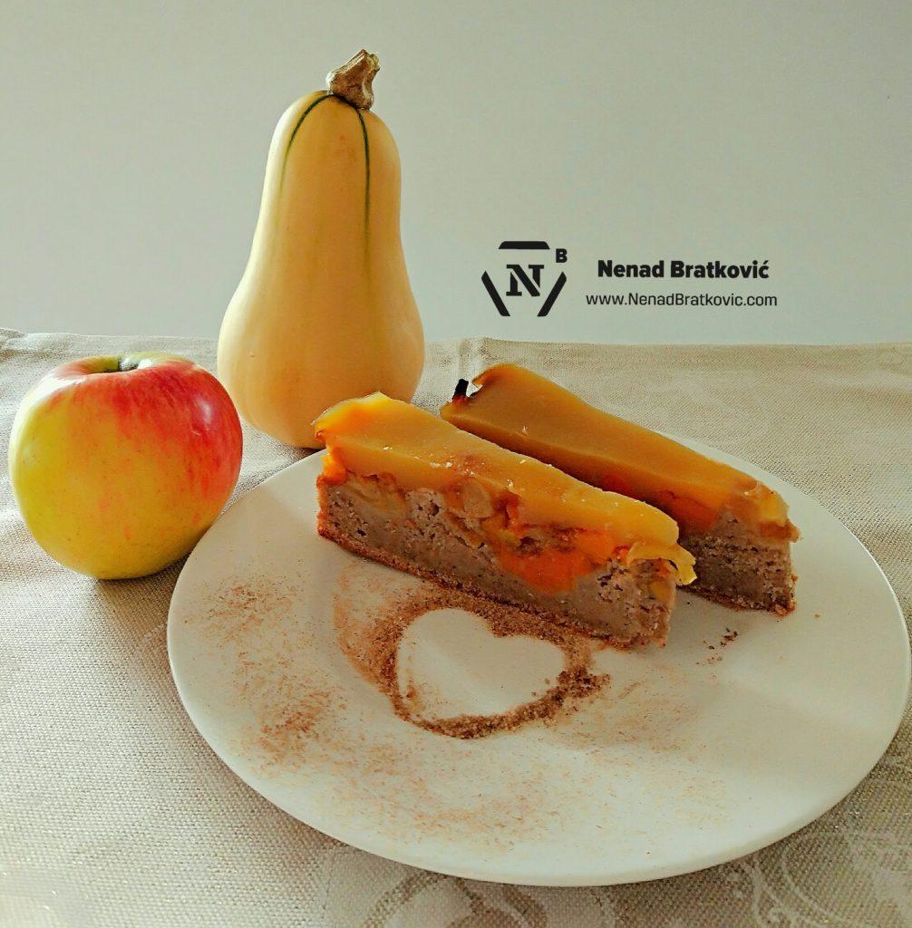 Zdrava jesenska torta od muškatne tikve i jabuke